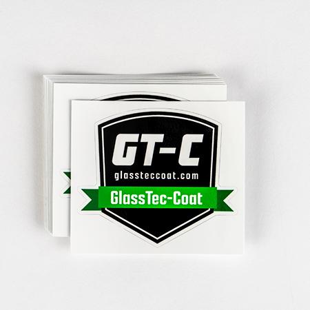 GT-C (GlassTec Coat) 施工ステッカー 10枚セット